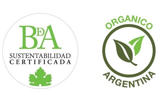 Bodega con Certificación de Sustentabilidad y con Certificación Orgánica para algunas fincas